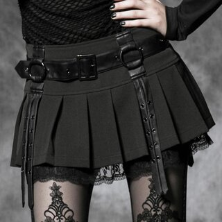 Punk Rave Pleated Mini Skirt - Girl of Spades