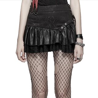Punk Rave Mini Skirt - Norra Black