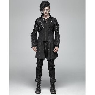 Punk Rave Gents Coat - Poisonblack Black