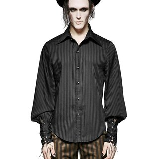 Punk Rave Gothic Shirt with Scarf - Edward Black