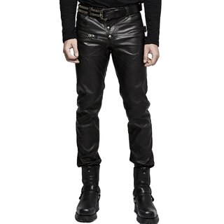 Punk Rave Faux Leather Trousers - Nergal
