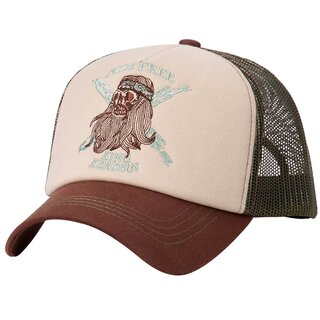 King Kerosin Trucker Cap - Ride Free Braun-Oliv