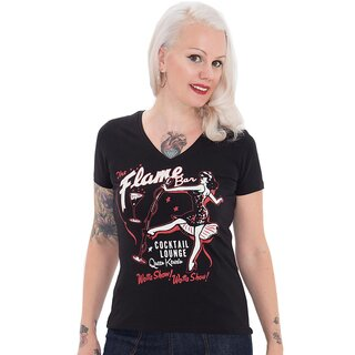Queen Kerosin T-Shirt - Flame Bar Schwarz