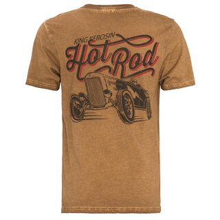 King Kerosin T-Shirt - Hot Rod Braun
