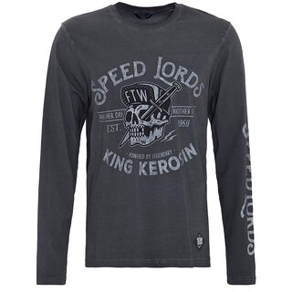 King Kerosin Langarm T-Shirt - Speed Lords Grau