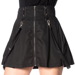 Banned Alternative Mini Skirt - Patent Straps