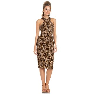 Voodoo Vixen Pencil Dress - Lauren Leopard