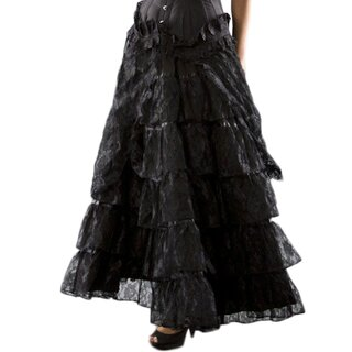 Burleska Burlesque Maxi Skirt - Flamingo Lace