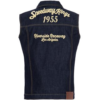 King Kerosin Denim Vest - Speedway Kings