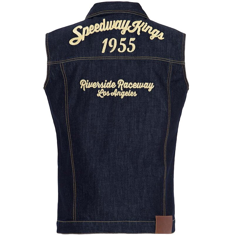 King Kerosin Denim Weste - Speedway Kings S