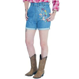 Queen Kerosin Denim Shorts - Western