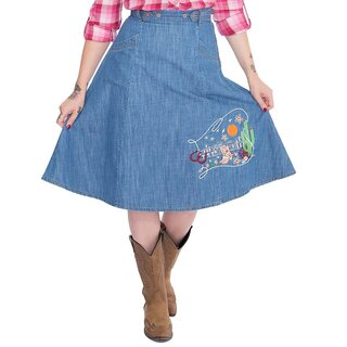 Queen Kerosin Denim Skirt - Western