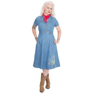 Queen Kerosin Denim Kleid - Western