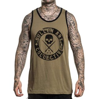 Sullen Clothing Tank Top - Badge of Honour Olive