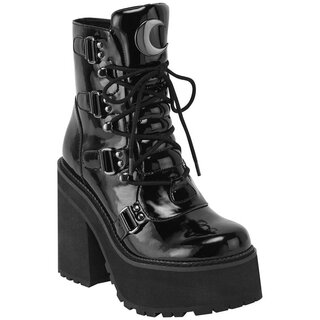 Killstar Platform Boots - Broom Rider Gloss