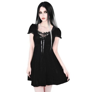 Killstar Velvet Babydoll Dress - Heather