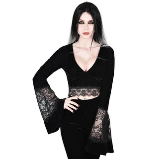 Killstar Samt Crop Top - Naomi