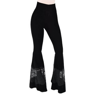 Killstar Velvet Bell Bottom Trousers - Nova