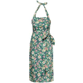 Queen Kerosin Neckholder Kleid - Tropical