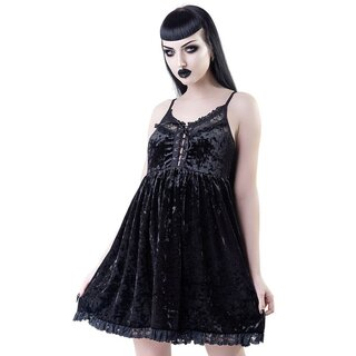 Killstar Samt Babydoll Kleid - Ashburys Angel