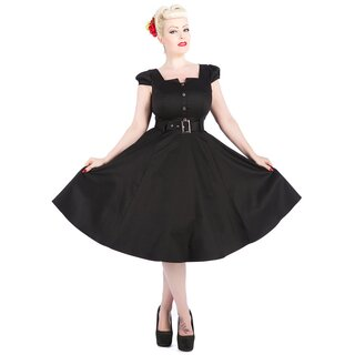 H&R London Vintage Kleid - Black Lydia