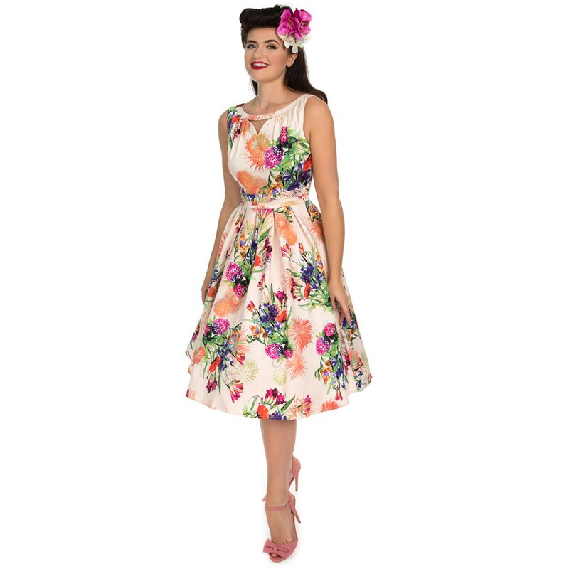 H&R London Vintage Kleid - Peach 36
