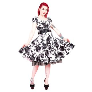 H&R London Vintage Kleid - Black Rose
