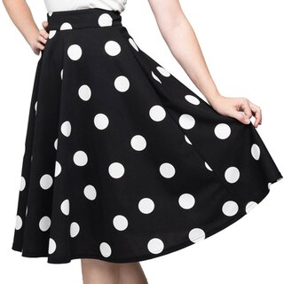 Steady Clothing Circle Skirt - Dottie Thrills Black