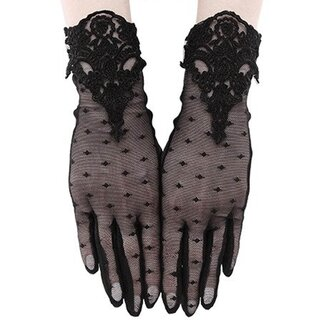 Restyle Gothic Spitze Handschuhe - Guipure