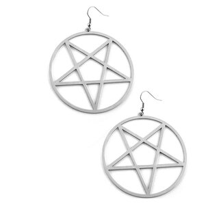 Killstar XXL Earrings - Pentagramm