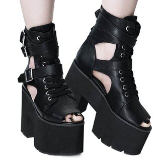 Killstar Cut Out Platform Boots - Charmed