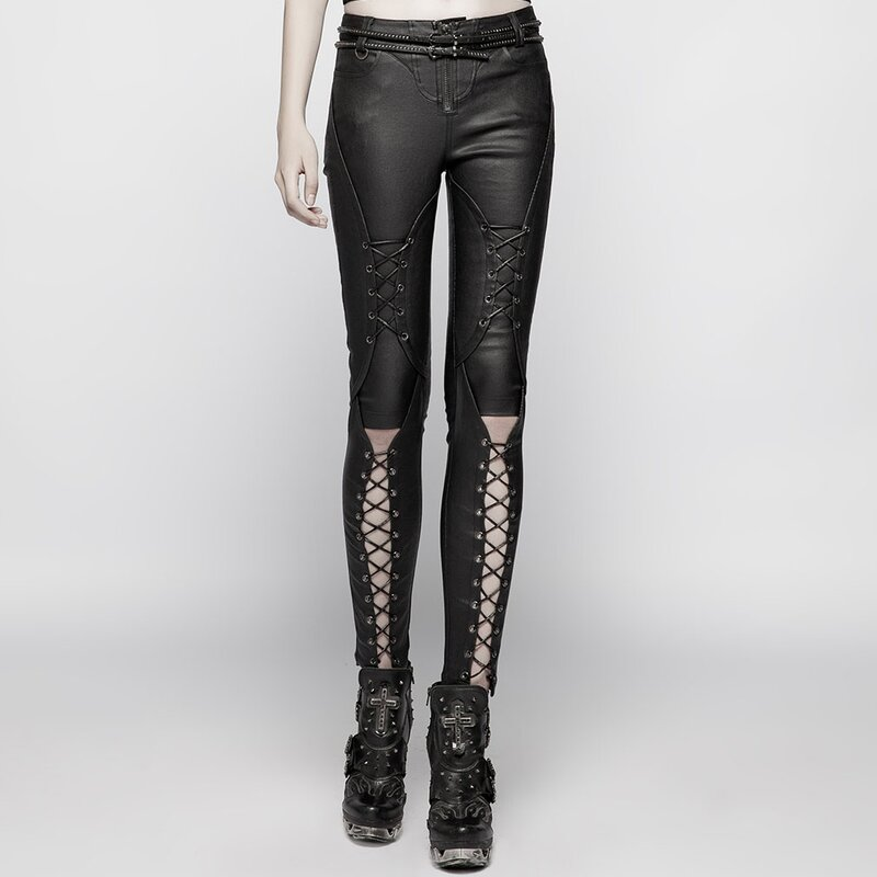Punk Rave Kunstleder Jeans Hose - Jointed Doll S