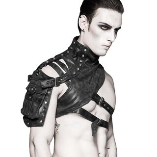 Punk Rave Leather Harness - Catharsis Black