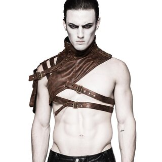 Punk Rave Leather Harness - Catharsis Brown