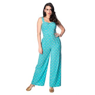 Banned Retro Jumpsuit - Geo Aqua