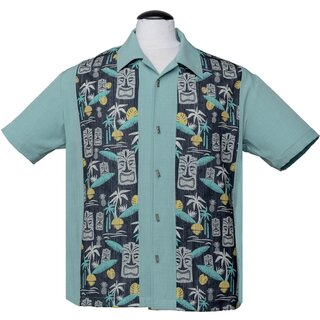 Steady Clothing Vintage Bowling Shirt - Tiki In Paradise