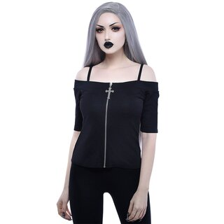 Killstar Bardot Top - Dont Cross Me