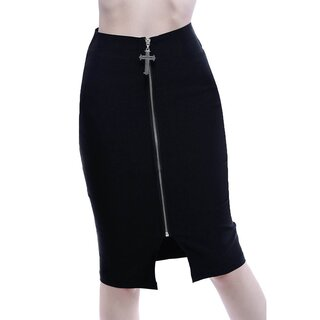 Killstar Pencil Skirt - Dont Cross Me