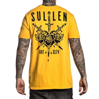 Sullen Clothing T-Shirt - 3 Swords Gelb