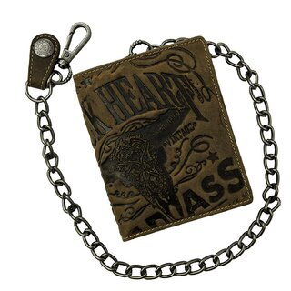 Jacks Inn 54 Leather Wallet with Chain - Black Bourbon...