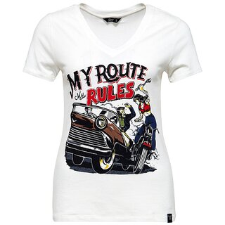 Queen Kerosin T-Shirt -  My Route My Rules Weiß