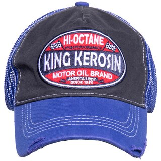 King Kerosin Trucker Cap - Hi-Octane Blue