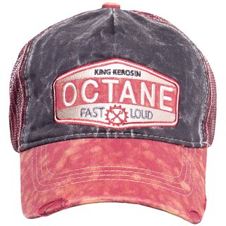 King Kerosin Trucker Cap - Octane Dark Red
