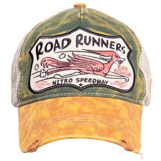 King Kerosin Trucker Cap - Road Runners Beige