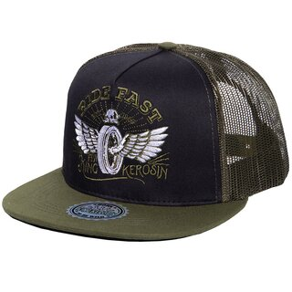 King Kerosin Trucker Cap - Ride Fast Green