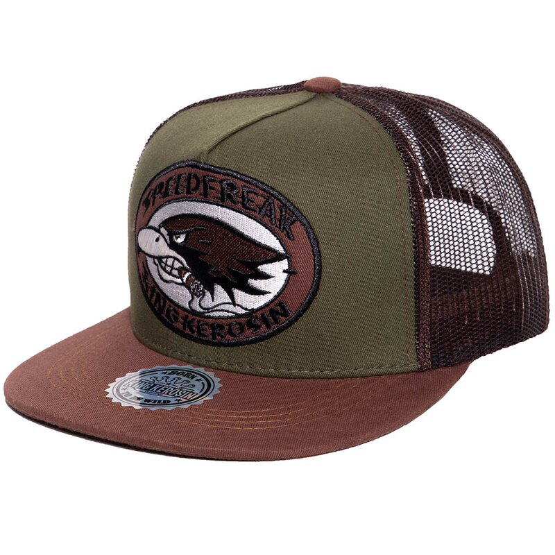 King Kerosin Trucker Cap - Speedfreak marrone-verde