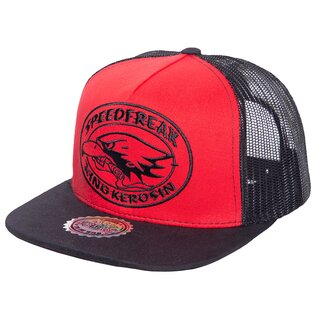 King Kerosin Trucker Cap - Speedfreak Black-Red