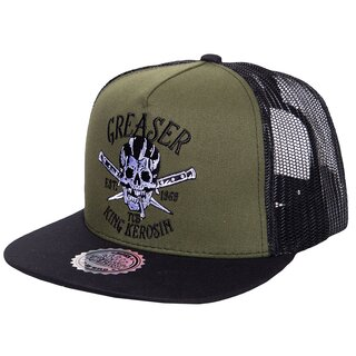 King Kerosin Trucker Cap - Greaser Green-Black