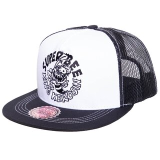 King Kerosin Trucker Cap - Super Bee Black-White