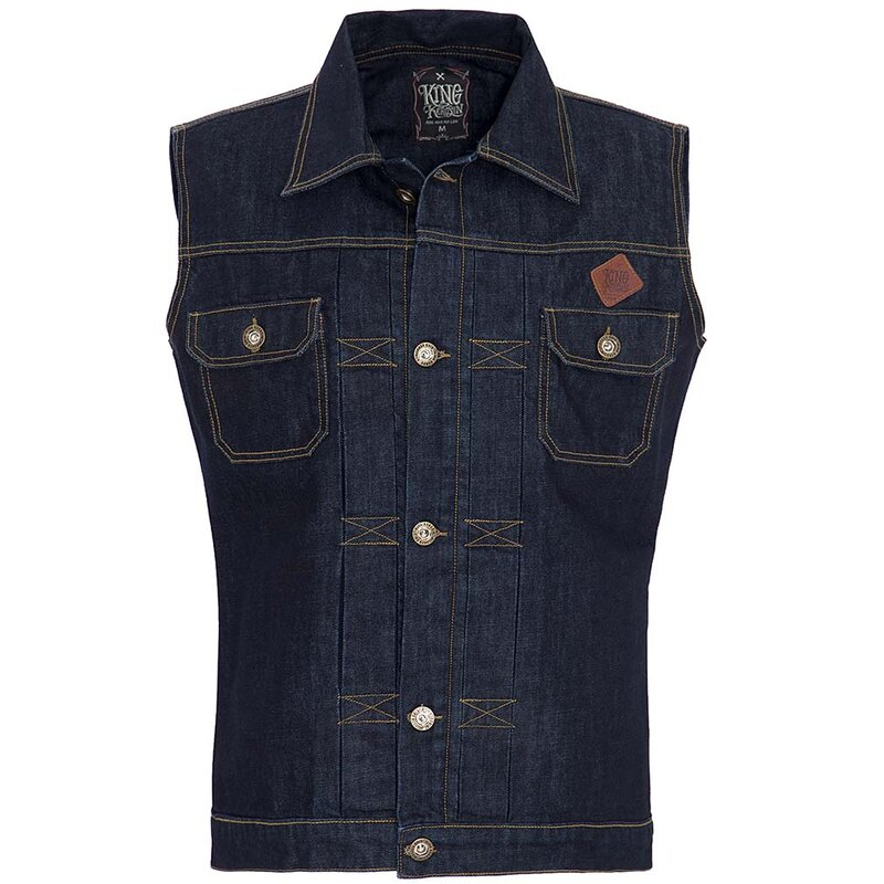 King Kerosin Gilet denim - Vuoto